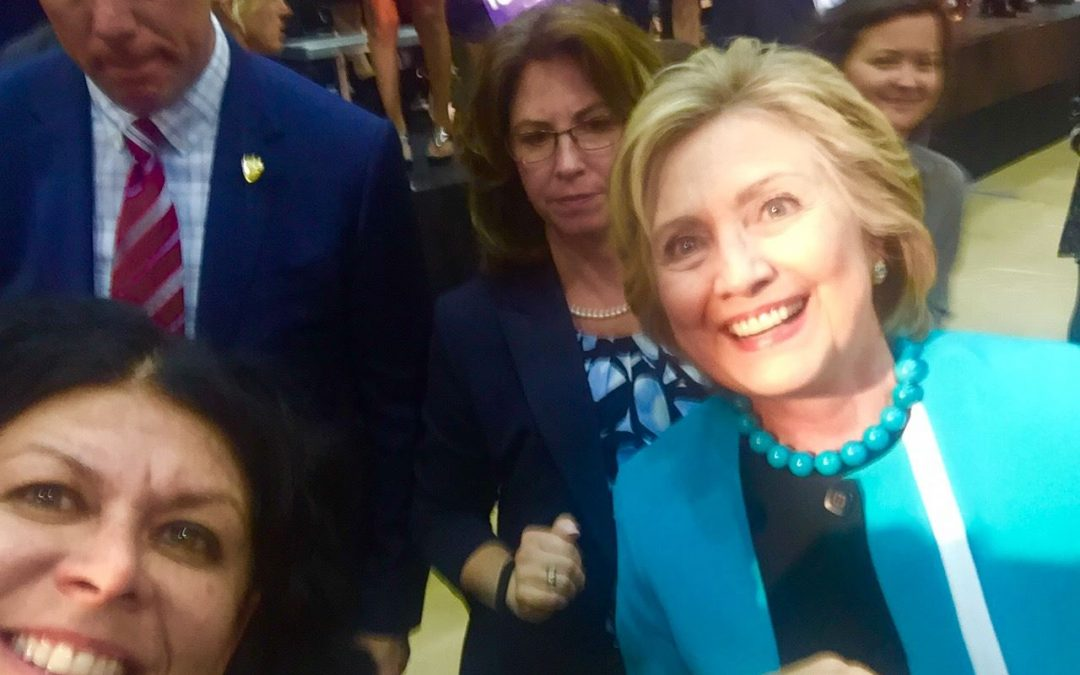 Vivian Hartman of Sophia's Angels meets Hillary Clinton