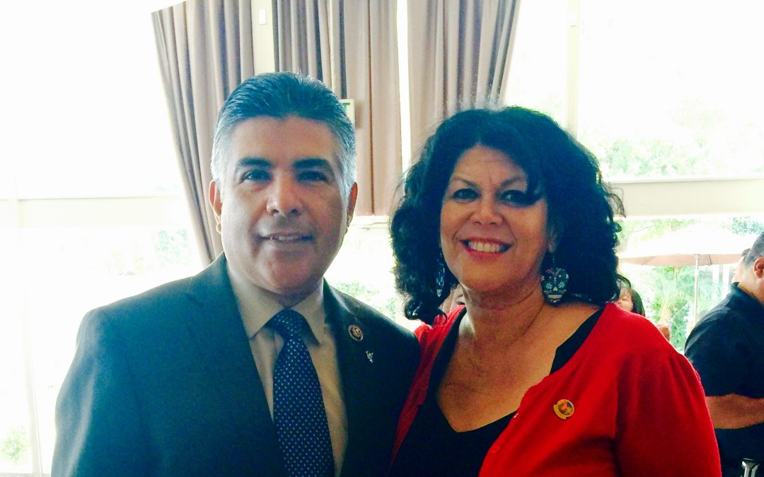 Congressman Tony Cardenas with Vivian Hartman
