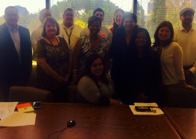 Sophia's Angels at the capital discussing fixing the gap in medical coverage.
